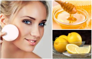 маска из меда с лимоном