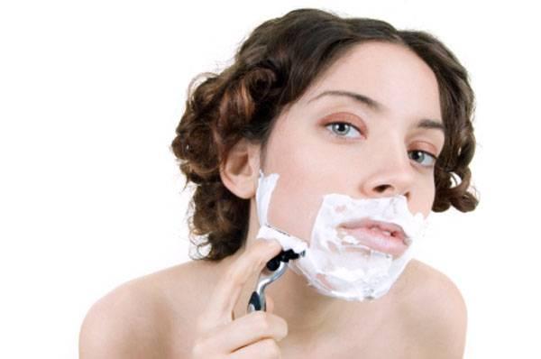 Пушковые волосы на лице у женщин