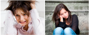 стресс и депрессия - причины сухих пятен на лице