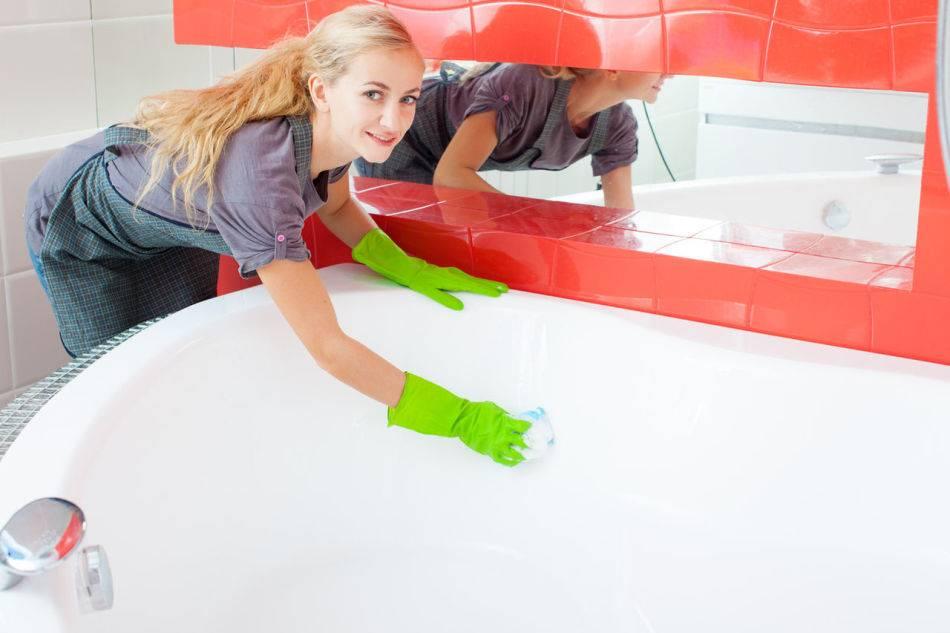 Как избавиться от пятна краски для волос в ванной?
