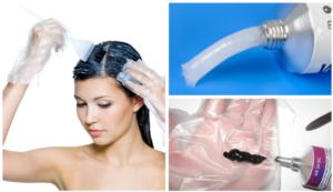 окрашивание волос - меры предосторожности