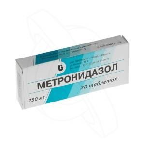 Медикаментозное лечение: Метронидазол