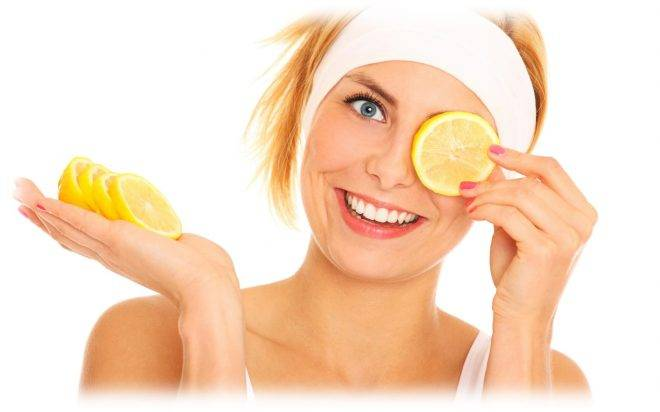 Чистка лица лимоном