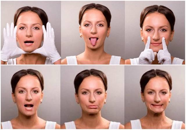 Гимнастика для подтяжки овала лица